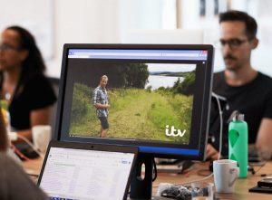 Screen in an office